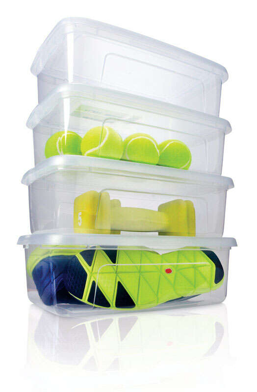 Iris  6.9 in. H x 8.7 in. W x 13.5 in. D 4 pk Storage Box  Stackable