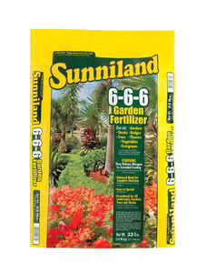 Sunniland  Organic 6-6-6  Lawn Fertilizer  For All Grass Types 33 lb. 2500 sq. ft.
