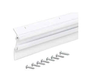 M-D Building Products  White  Aluminum  Door Sweep  For Door Bottom 3 ft. L x 2 in.