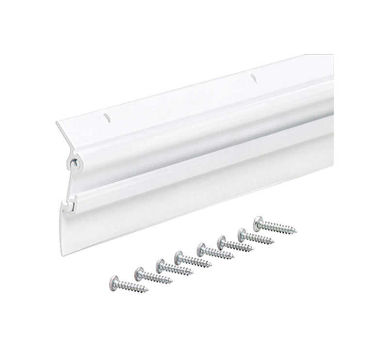 M-D Building Products  White  Aluminum  3 ft. L x 2 in.  For Door Bottom Door Sweep