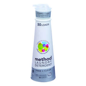 Method  Free & Clear Scent Laundry Detergent  Liquid  20 oz.