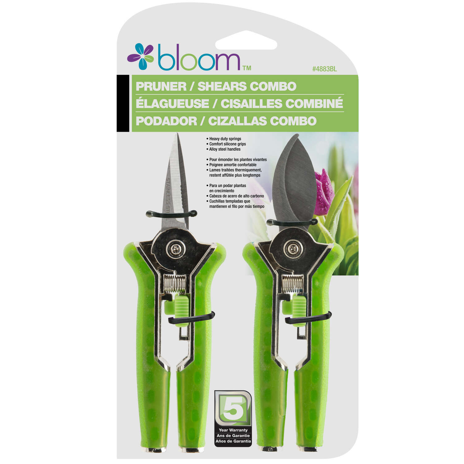 Bloom  2 Piece  2 in. L Carbon Steel  Pruner Set
