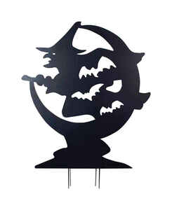 DHI  Witch Silhouette  48 in. H x 36-1/2 in. W x 2-3/4 in. L 1 pk Halloween Decoration