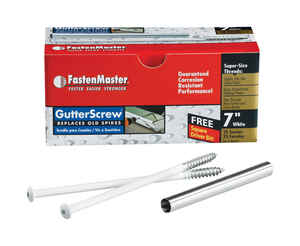 FastenMaster  No. 3   x 7 in. L Square  Round Head Galvanized  Steel  Gutter Screws  25  25 pk