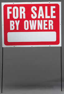 Hy-Ko  English  For Sale by Owner  18 in. H x 24 in. W Sign  Plastic