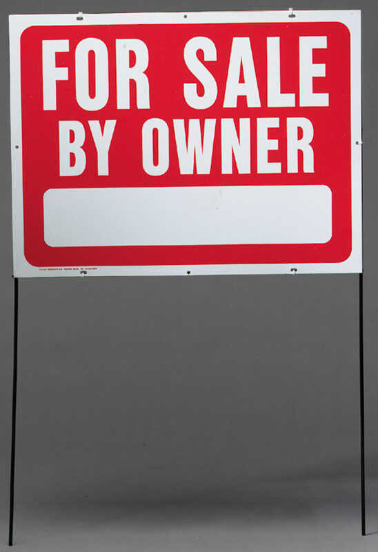 Hy-Ko  English  For Sale by Owner  Sign  Plastic  24.5 in. H x 36.5 in. W