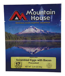 Mountain House  Scrambled Eggs with Bacon  Freeze Dried Food  2.25 oz. Pouch