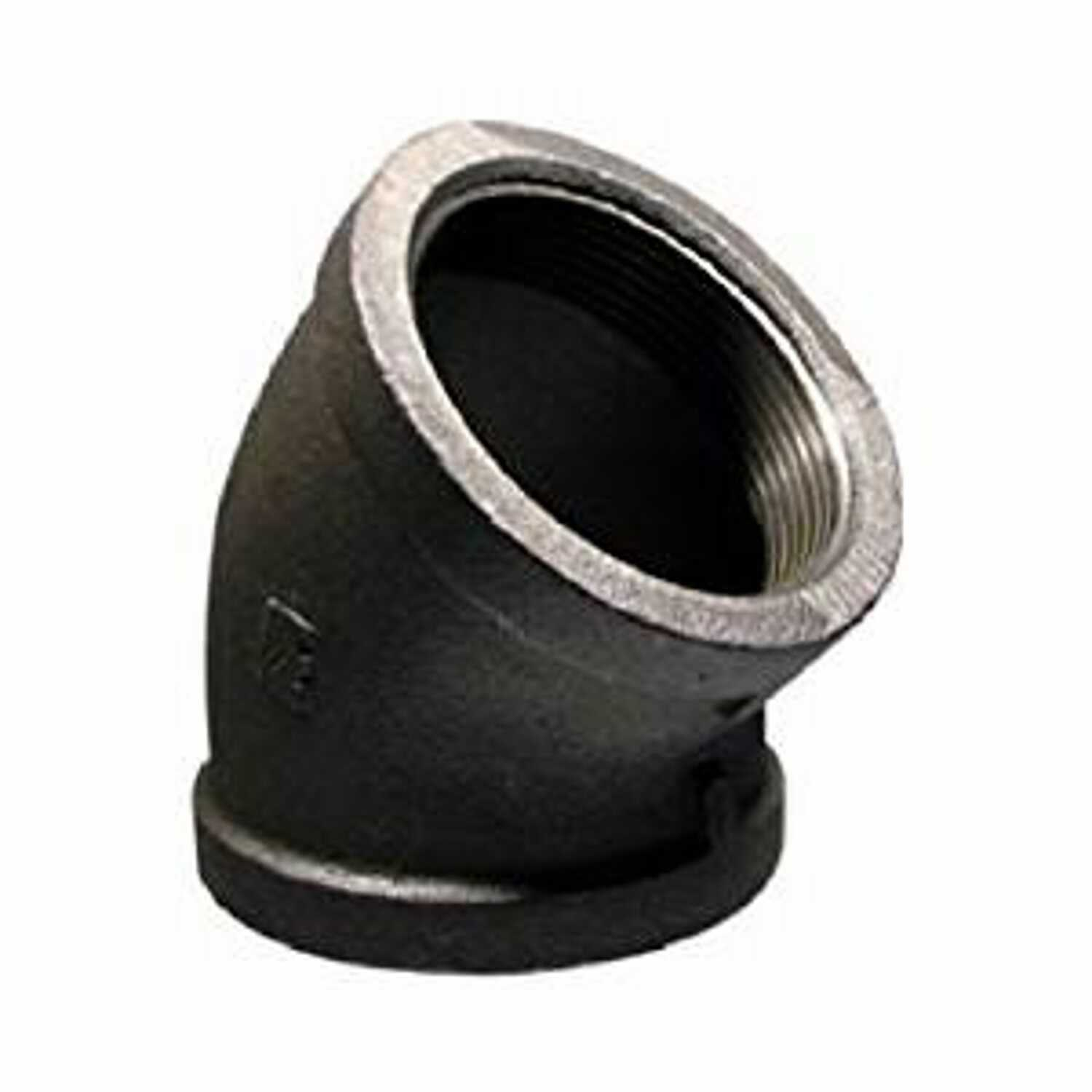 BK Products  Southland  4 in. FPT   x 4 in. Dia. FPT  Black  Malleable Iron  45 Degree Elbow