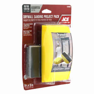 Ace  2-5/8 in. W x 5 in. L Assorted  Sanding Block Kit  150 Grit
