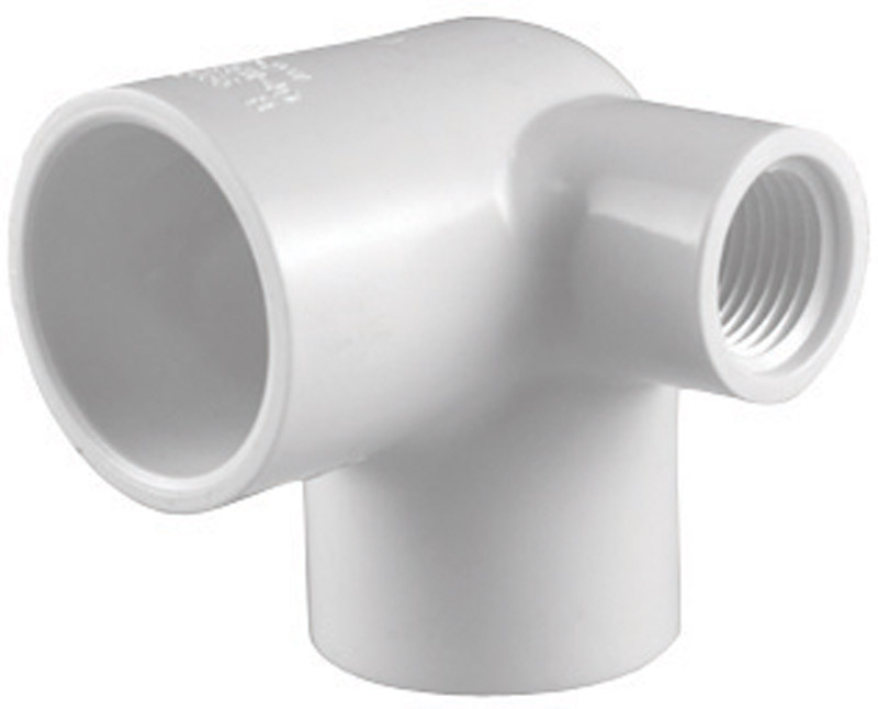 Charlotte Pipe  Schedule 40  1/2 in. Slip   x 1/2 in. Dia. Slip  PVC  Side Outlet Elbow  90 deg.