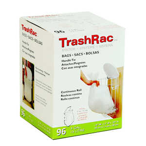 Trashrac  3 gal. Trash Bags  Handle Tie  96 pk