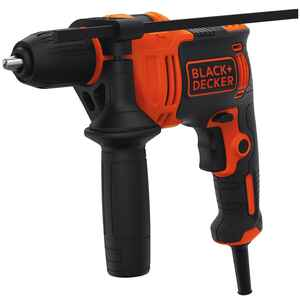 Black and Decker  1/2 in. Keyless  Corded Hammer Drill  6.5 amps 48000 ipm