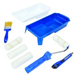 Home Plus  4 in. W Adjustable  Paint Roller Kit  Threaded End