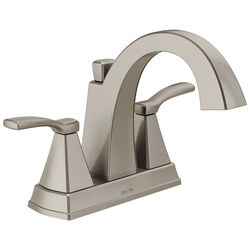 Delta  Flynn  Stainless Steel  Two Handle  Lavatory Faucet  4 in.