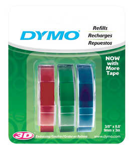Dymo Labelmaker Refill Tape 3/8 in. x 9.8 ft. Blue