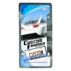 Custom Accessories Silver Metal License Plate Frame