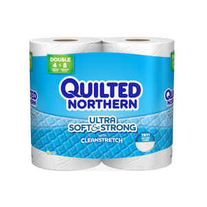 Quilted Northern  Toilet Paper  4 roll 190 sheet 78.22 SQFT