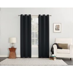 Sun Zero  Norwich  Black  Blackout Curtains  80 in. W x 84 in. L