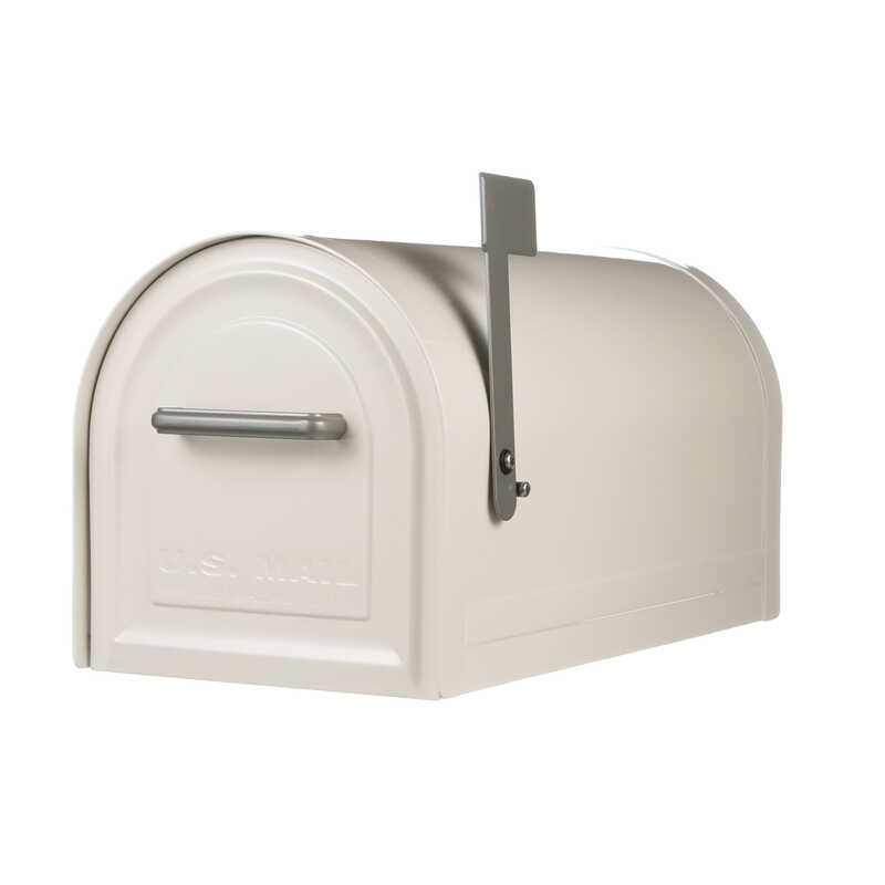 Gibraltar  Reliant  Traditional  Galvanized Steel  Curbside  White  Lockable Mailbox  10.84 in. H x