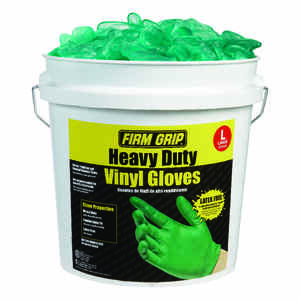 Firm Grip  Vinyl  Disposable Gloves  L  Green  300 pk