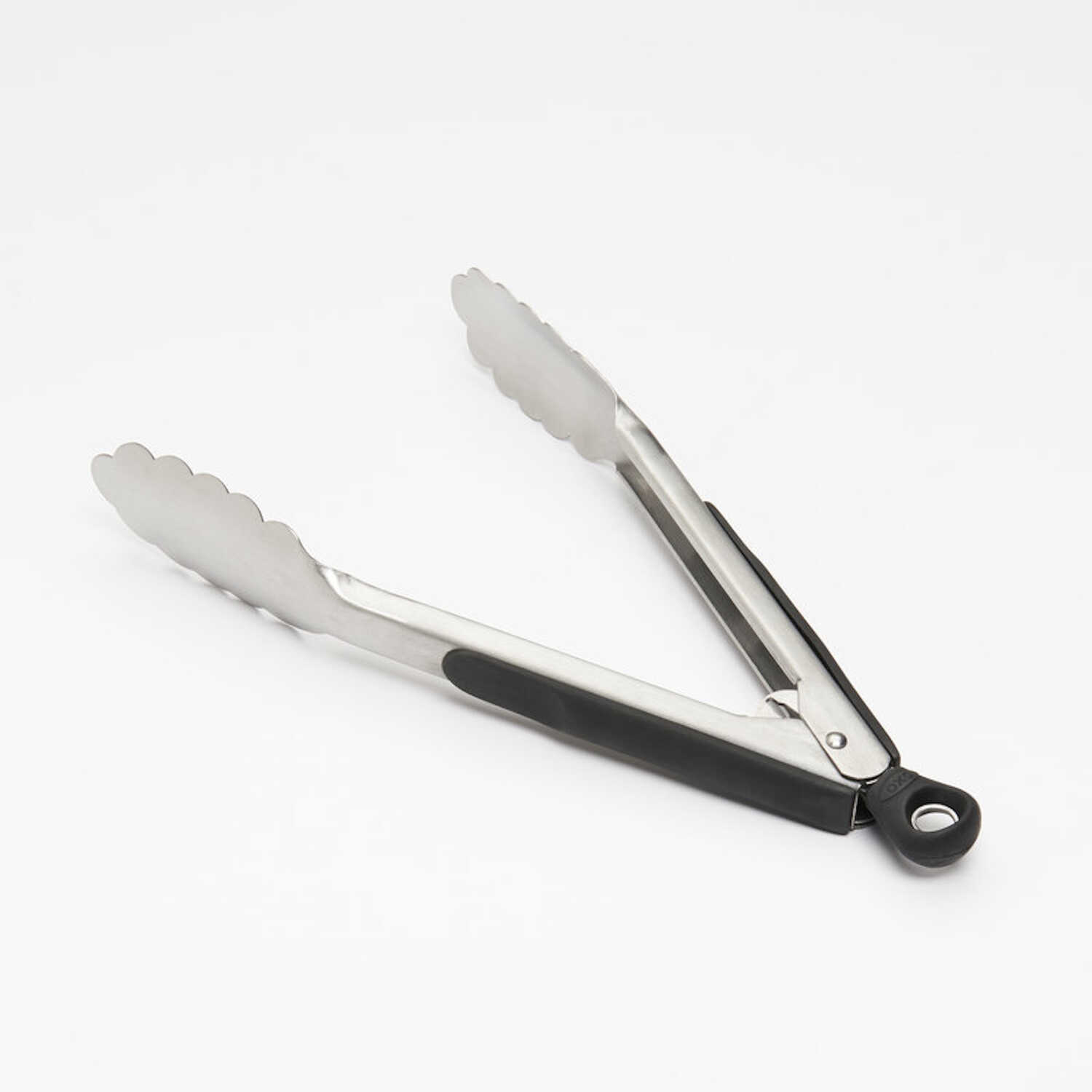 OXO  Good Grips  1 in. W x 11 in. L Silver/Black  Stainless Steel  Tongs