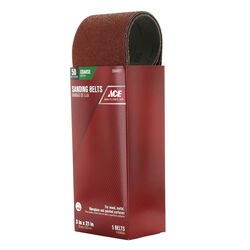 Ace  21 in. L x 3 in. W Aluminum Oxide  Sanding Belt  50 Grit Coarse  5 pc.