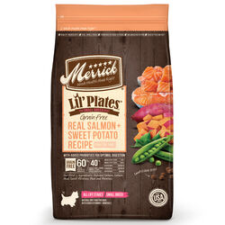 Merrick  Lil Plates  Salmon and Sweet Potato  Dry  Dog  Food  Grain Free 4 lb.