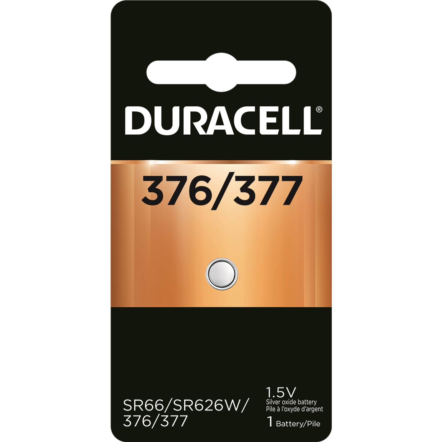 Duracell  Silver Oxide  377  Electronic/Watch Battery  1 pk