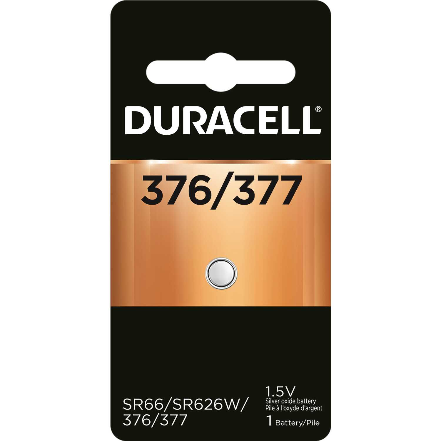 Duracell  Silver Oxide  377  1.5 volt Electronic/Watch Battery  1 pk