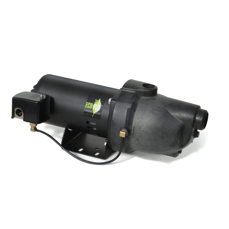 Ecoflo  Thermoplastic  Shallow Well Jet Pump  1 hp 1038 gph 230 volt