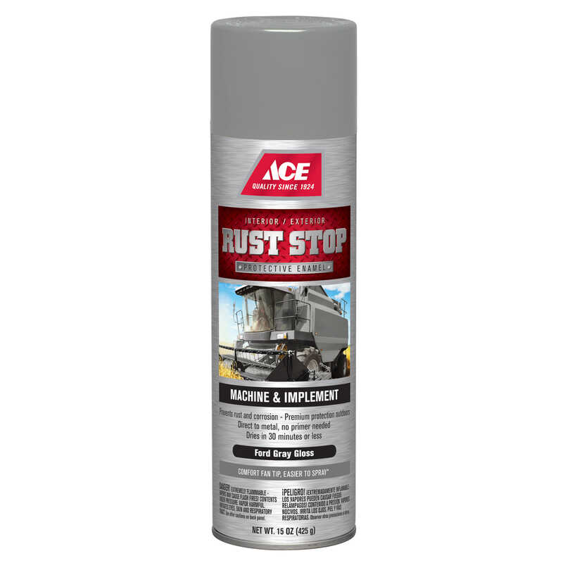 Ace  Rust Stop  Gloss  Ford Gray  15 oz. Protective Enamel Spray