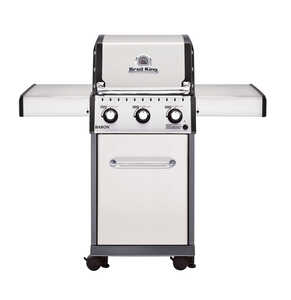 Broil King  Baron S320  3 burners Propane  Stainless Steel  Grill  30000 BTU