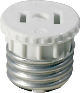 Leviton  Socket Adapter  1 pk Plastic