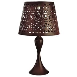Paradise Lighting Metal Brown 17.32 in. H Table Lamp Outdoor Solar Decor