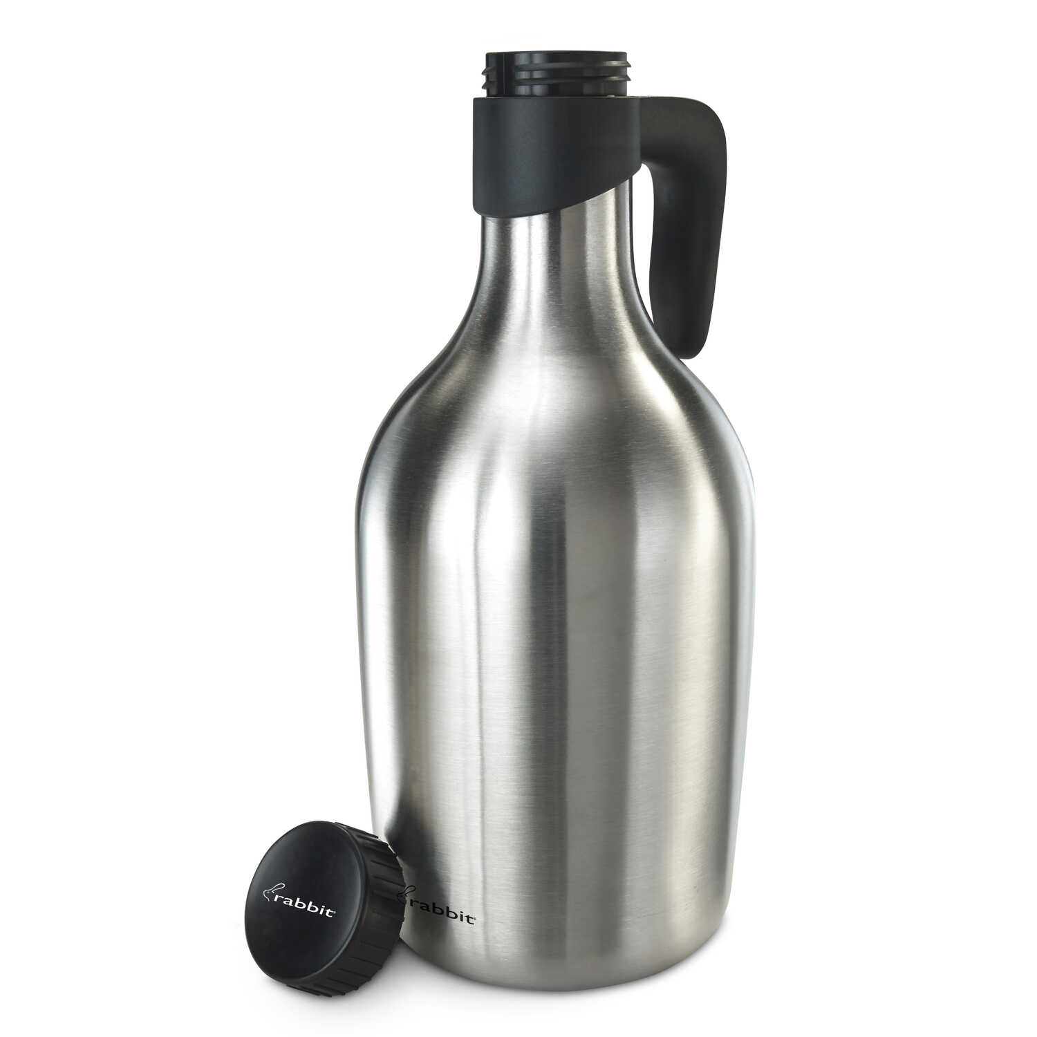 Rabbit  64 ounce oz. Silver  Stainless Steel  Beer Growler