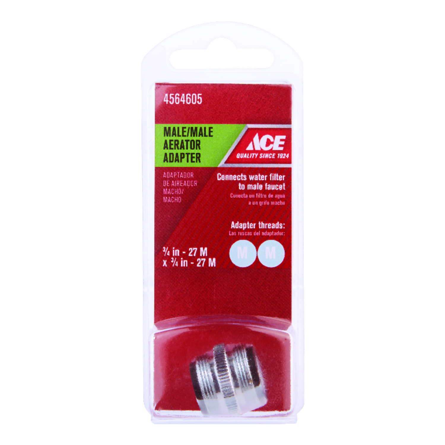 Ace  Male Aerator Adapter  3/4 in.  x 0.00 in.  Chrome