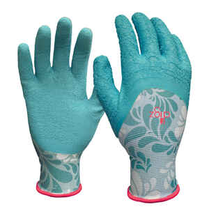 Digz  Blue  Women's  L  Latex  Gardening Gloves