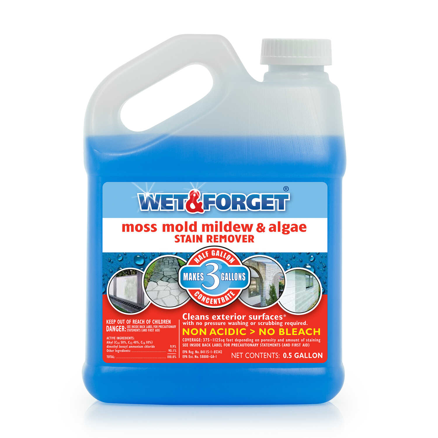Wet and Forget  Mold and Mildew Stain Remover  64 oz.