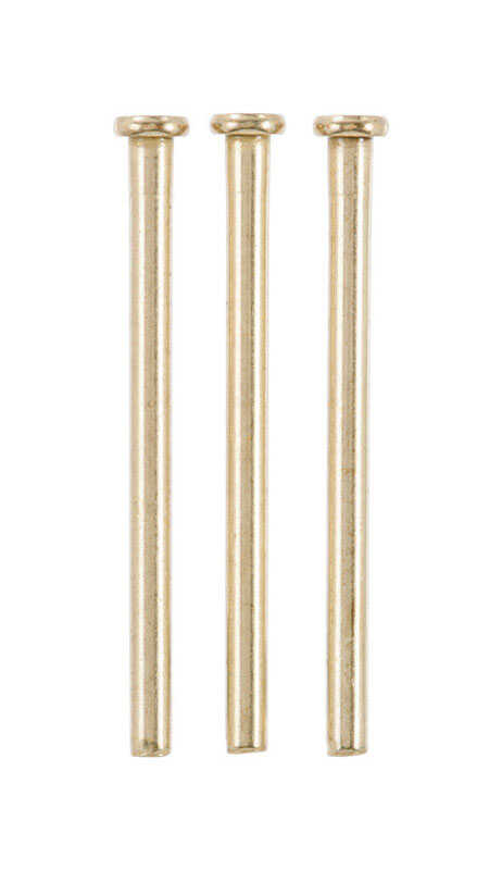 Ace  4 in. L Satin Brass  Brass  Hinge Pin  3 pk