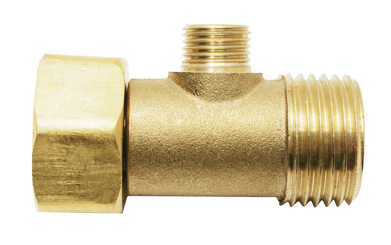 Ace  1/2 in. FPT   x 1/2 in. Dia. Male Compression  1/4  Brass  Add A Tee Adapter
