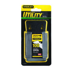 Stanley  2-7/16 in. L x 0.024 in.  Steel  Heavy Duty  100 pk Blade Dispenser with Blades