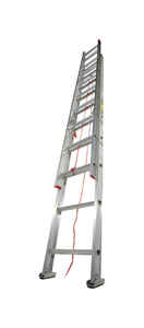 Werner  24 ft. H x 16 in. W Extension Ladder  Type III  Aluminum  200 lb.