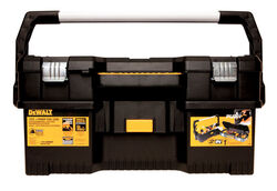 DeWalt  24 in. Resin  Tool Box  12.71 in. W x 11.2 in. H Black