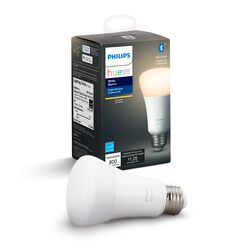 Philips  Hue  A19  E26 (Medium)  LED Smart Bulb  White  60 Watt Equivalence 1 pk
