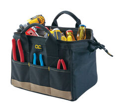CLC  8.5 in. W x 8 in. H Polyester  Tool Bag  14 pocket Black/Tan  1 pc.