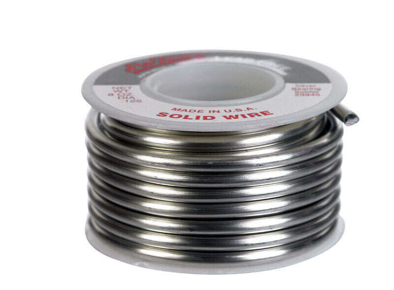 Alpha Fry  8 oz. Lead-Free Solid Wire Solder  0.125 in. Dia. Silver Bearing Alloy