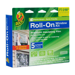 Duck Roll-On Clear Outdoor Window Film Insulator Kit 62 in. W x 210 L