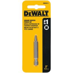 DeWalt  Square Recess  #1 in.  x 2 in. L Power Screwdriver Bit  Heat-Treated Steel  1 pc.
