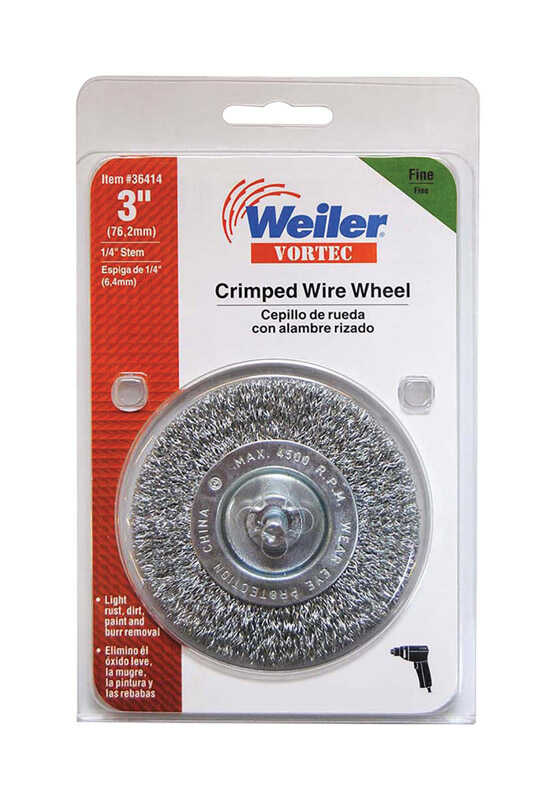 Weiler  Vortec  3 in. Crimped Wire Wheel  Fine  4500 rpm