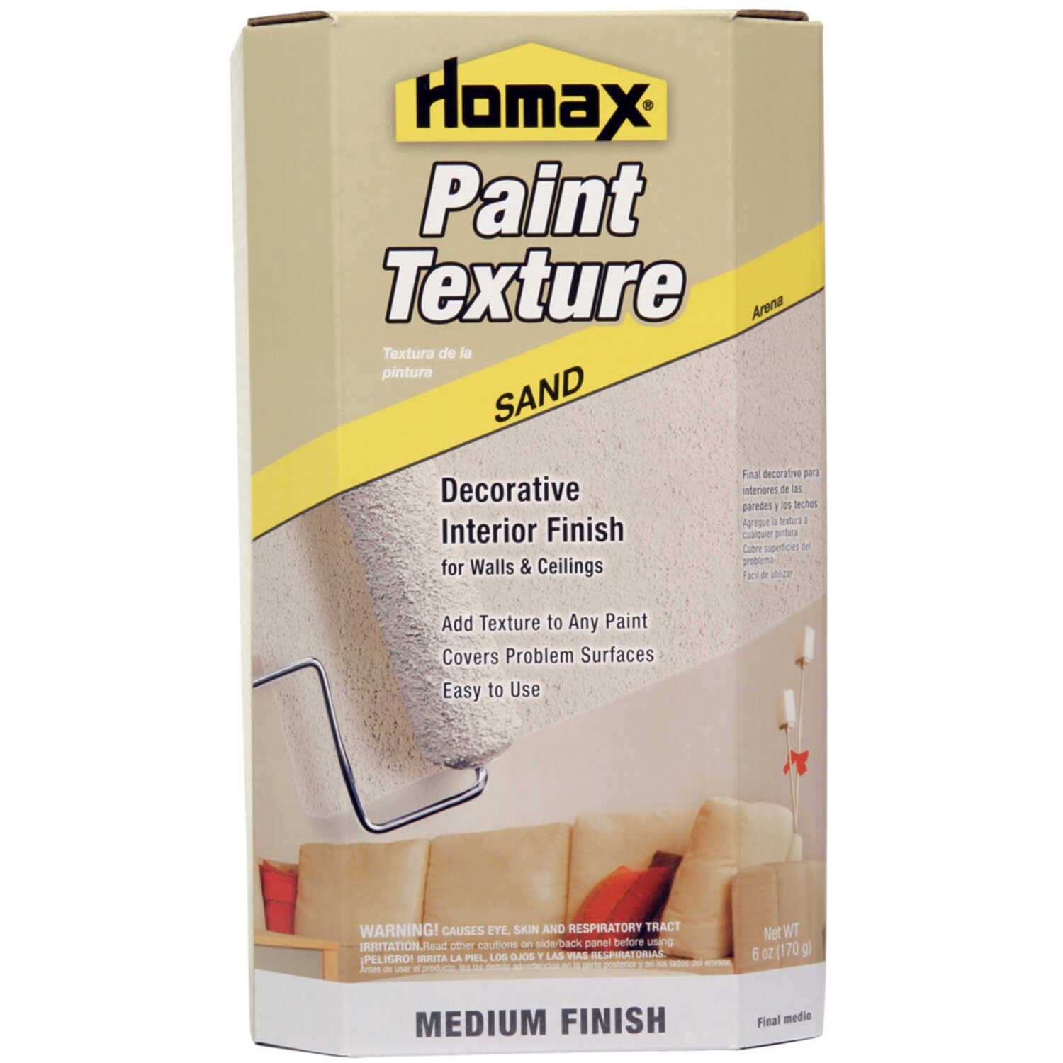 Homax  6 oz. Roll-On Paint Texture  White